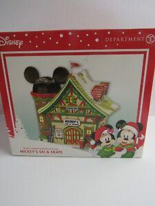 Dept 56 Disney Mickeys Merry Christmas Village Mickey's Ski & Skate 811263 MIB