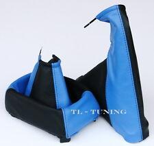 Schaltsack + Handbremssack passend für OPEL CALIBRA Bj. 90-97 Leder Blau-Schwarz