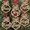 36pcs Christmas Decoration Wooden Ornaments Xmas Tree Hanging Tags Pendant Decor