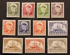 Greenland #28-38 Mlh. Vf-Xf centering. $124.05 Cv.