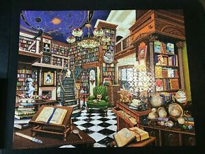 Rare Book Store 1000 Piece Puzzle White Mountain 24 x 30 Complete Made in USA
