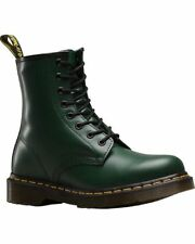 DOC Dr. Martens  NENS GREEN Smooth 8 Eye Lace Up Boots  - US MENS Size 9 NEW!