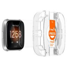 FitBit Versa Spigen® [Glas.tR EZ Fit] 9H Tempered Glass Screen Protector [2PK]