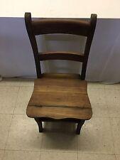 Mahogany Convertible Benjamin Ladder Chair Library Step Stool   A113A-WW-G-44-56