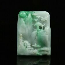 Chinese Exquisite Hand carved jadeite jade Pendant