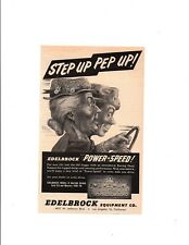 1952 EDELBROCK RACING HEAD ~ ORIGINAL SMALLER PRINT AD