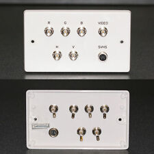 AV Wall Plate, BNC Video + 5 x BNC Component Video RGBHV / S-Video Sockets