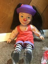 Big Comfy Couch Loonette Doll 1997 Clown Doll Soft Body with Hair Brush