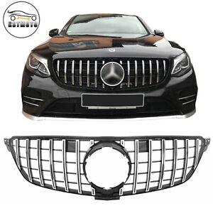 per Mercedes GLE Class W167 GLE300 GLE350 GLE400 GLE450,Argento EBXH Grille da Corsa GT