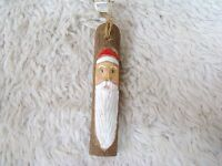 Midwest Importers Santa Wooden Carved and Hand Painted Face, Collectible
