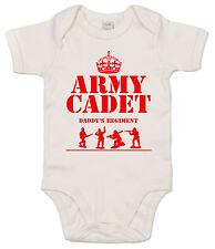"""GRACIOSO Body de bebé """"Ejército CADET in Daddy REGIMENT """"Body Papá is a soldado"""