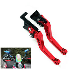 Dark Red CNC Motorcycle Drum Disc Hydraulic Line GY6 Brake Clutch Lever Grip Set