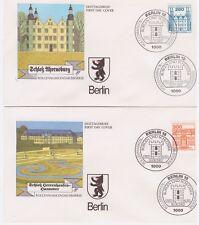 Berlin, Michel Nr. 673 - 677 Burgen und Schlösser kompletter Satz auf FDC
