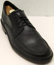 ECCO 'Boston Apron' Black Leather Oxfords Men's Comfort Shoes Sz 47/13-13.5 M