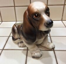 Vintage Napcoware Basset Hound Dog Planter Ceramic Painted - Japan