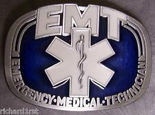 Pewter Belt Buckle American EMT Emergency Medical Technician NEW
