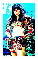 """PRINCESS XENA WARRIOR LUCY LAWLESS CULT TV RETRO ART ON QUALITY CANVAS 36""""X48"""""""