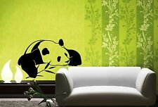 Wall Stickers Vinyl Decal Bamboo Panda Funny Animal Lazy Wall Decor Mural  ig051
