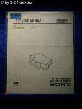 Sony Service Manual SA KL50W Subwoofer Speaker (#6031)