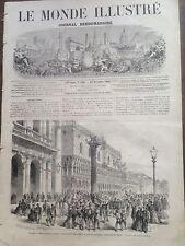 LE MONDE ILLUSTRE 1966 N 500 VENISE : LE JOUR DE L' ANNEXION A L' ITALIE