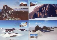 Australian Antarctic 2013 Mountains Set of 4 Maximum Cards