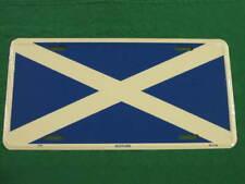 ST ANDREW'S CROSS FLAG LICENSE PLATE SCOTLAND SIGN L066