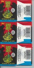 3  PACKS  TEENAGE MUTANT NINJA TURTLES MOVIE CARDS SECRET OF THE OOZE