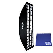 Phot-R 22x90cm Softbox Elinchrom Mount Honeycomb Grid Microfibre Chamois Cloth