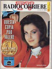 rivista TV RADIO CORRIERE ANNO 1967 NUMERO 41 CATHERINE SPAAK
