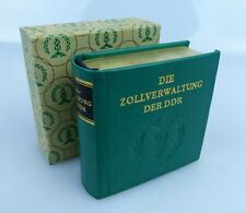 Minibuch: Zollverwaltung der DDR # mit Vollgoldschnitt # bu0959