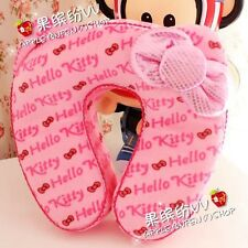 Hello Kitty U-Shaped Neck Memory Foam Pillow Travel Office Cushion Pink 1