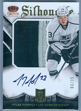 TYLER TOFFOLI 2013-14 CROWN ROYALE ROOKIE SILHOUETTE PATCH AUTO AUTOGRAPH SP/25