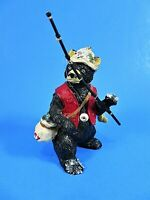 Christmas Ornament Resin Fishing Bear Wearing Red Vest Holding Pole Bobber