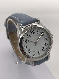 Ladies Easy to Read Seiko Quartz Movement Watch Black/ Pink/Lilac/Blue Strap