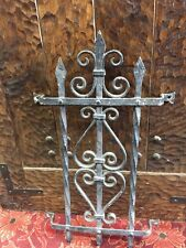 Front Door Speakeasy Iron Door Grid Spanish Revival 23x14Window Iron