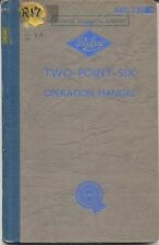 Riley 2.6 Two Point Six Original Operation Manual (Handbook) 1958 No. AKD739B