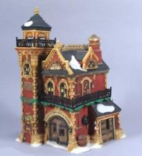 NEW Dept 56 Heritage Snow Village ASHWICK LANE HOSE & LADDER Fire Station Tower