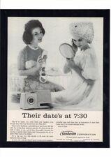 1950's Lady Sunbeam Hair Dryer Sexy Women Dressing Date Night Art Print Ad