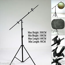 RFKIT3 Reflector Holder boom Arm 300cm SOLID Stand W160CM Boom arm grip head