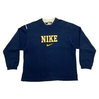Nike Embroidered Spell Out Sweatshirt | Vintage 90s Sports Varsity Style Jumper