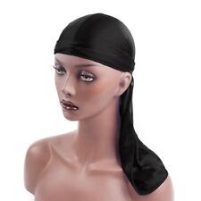 Men Women Biker Bandanna Hat Wigs Doo Rag Headwear Headband Turban Silky Durag