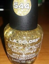 L.A. COLORS Color Craze  Nail Polish Dizzy Gold New #544