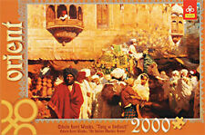 Trefl 27030. Puzzle 2000 piezas. Escena de un mercado Indio