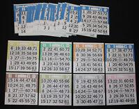 BINGO PAPER Cards 2 on 1 Yellow Solid 150 sheets  no duplicates FREE SHIPPING