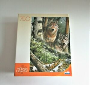 MEGA NEW Puzzle 750 Piece Two Wolves Puzzle Collection Ages 12+