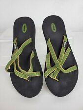 Teva Mush 6840 Olowahu Green Strappy Flip Flops Sandals Womens sz 8