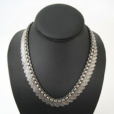 Superb Victorian Sterling Silver Bookchain Collar Necklace