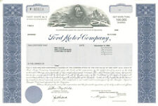 Ford Motor Co - Stock Certificate