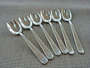 6 Sterling Silver Ice Cream Forks by Davis & Galt for Shreve & Co. (55607)