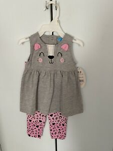 Baby girls Bon Bebe 0/3 month 2 piece cat outfit Nwts